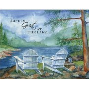 LPG Greetings Life Is Great at the Lake Graphic Art