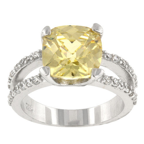 Kate Bissett Jonquil Cubic Zirconia Center Stone Pop Star Engagement Ring