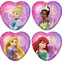 "Disney Princess Heart Shaped Party Dessert Paper Plates 7"" - 8CT"