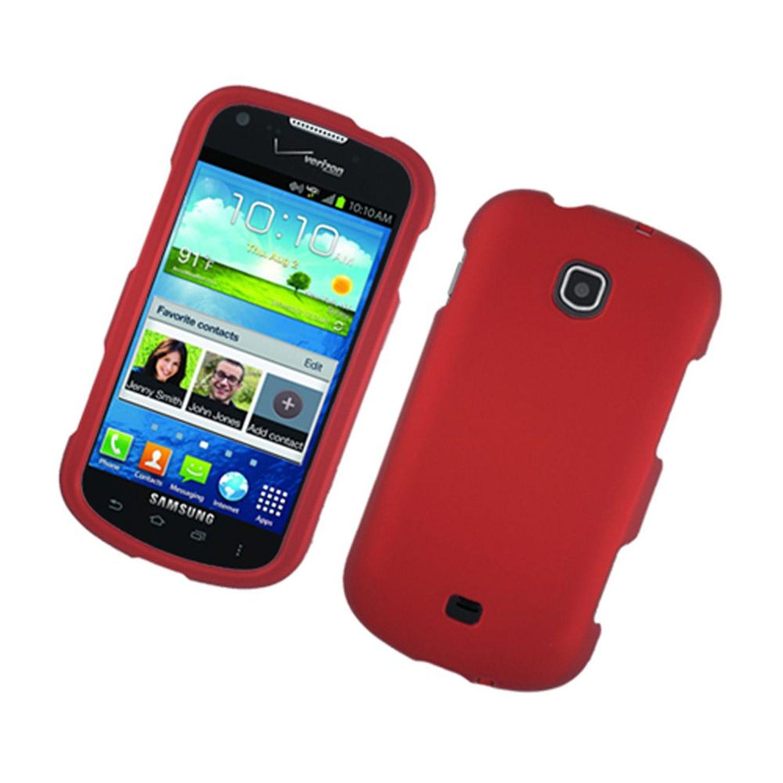Samsung Galaxy Stellar 4G case, by Insten Rubber Coated Hard Snap-in Case Cover For Samsung Galaxy Stellar 4G I200, Red