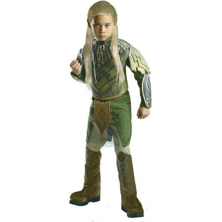 Child Male Deluxe Legolas Greenleaf Hobbit 2 Decolation Of Smaug Costume by Rubies 884746 (Greenleaf Costumes)