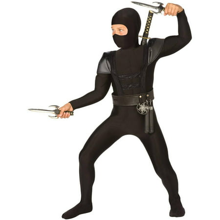 Black Fighter Ninja Child Halloween Costume - Black Dress Halloween Costume Diy
