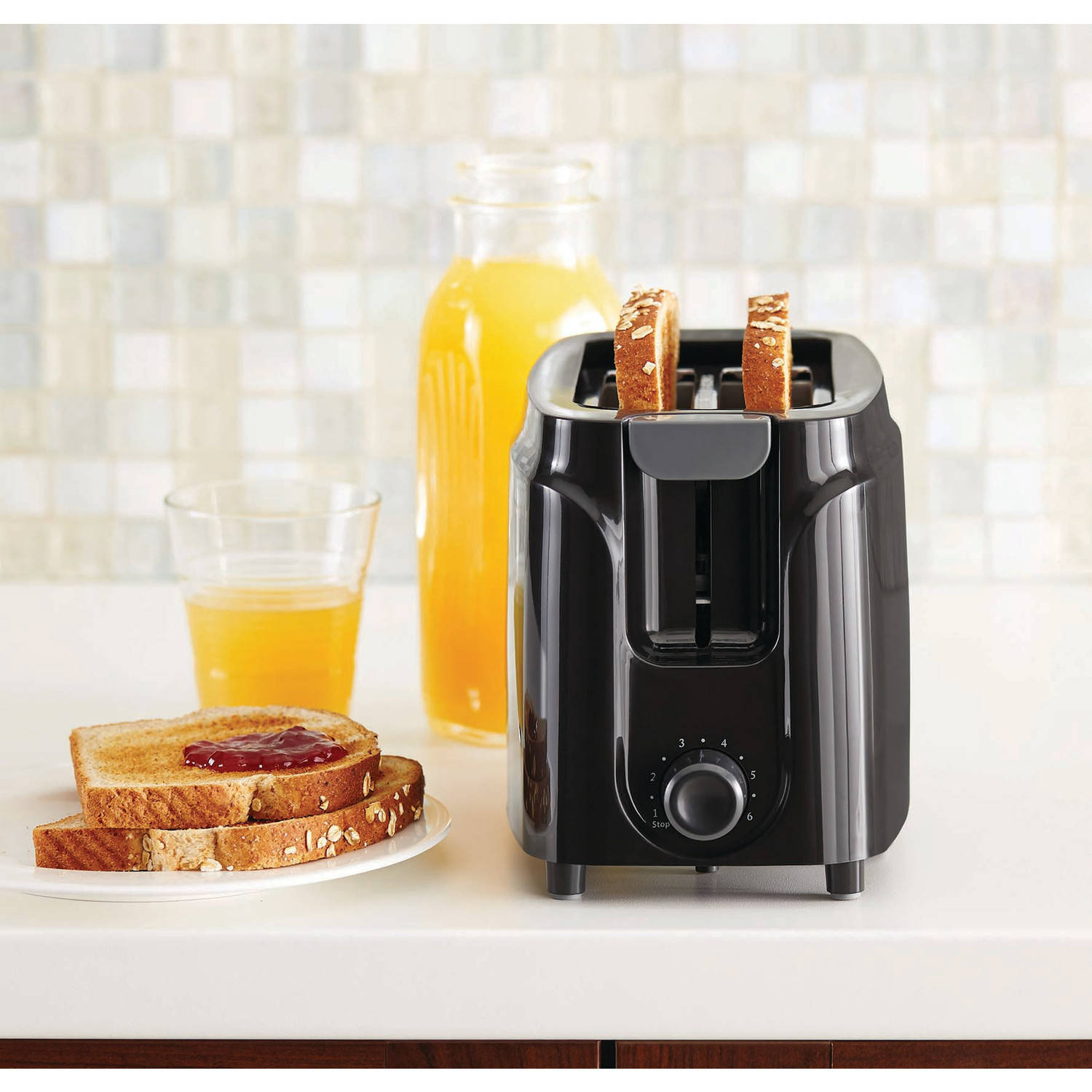 Mainstays 2-Slice Toaster, Black