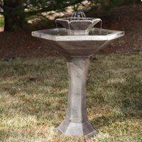 Smart Solar Alfresco 2-Tier Solar Bird Bath Fountain