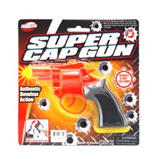 New 506061  Super Cap Gun Transparent Orange Color (24-Pack) Toy Gun Cheap Wholesale Discount Bulk Toys Toy Gun Fish Bowl