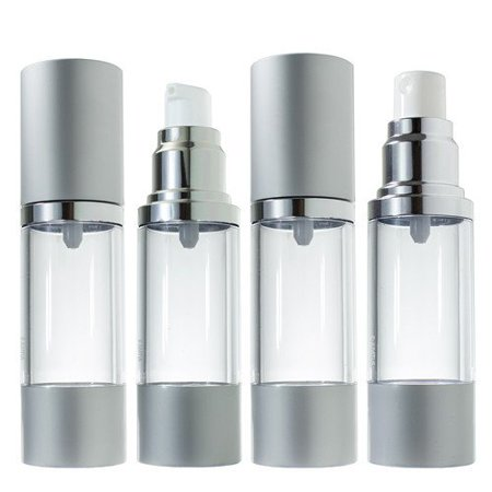 Airless Pump and Bottle Spray Set Voyage Rechargeables - 1 fl oz (paquet de 4)