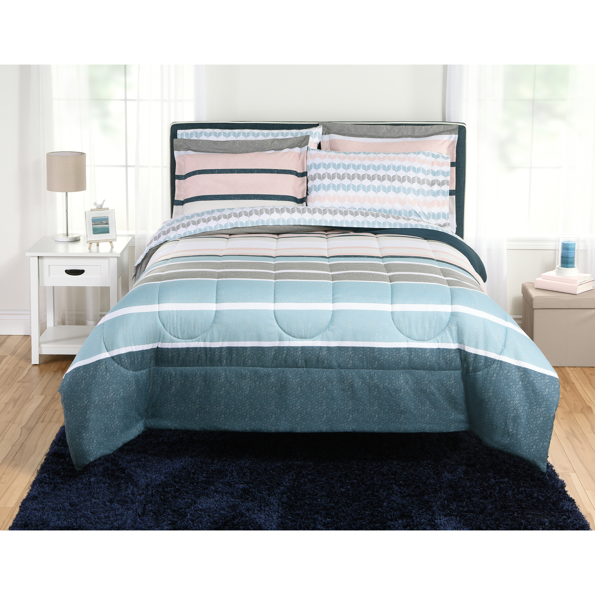 Mainstays Crescent Bed-in-a-Bag Comforter Set