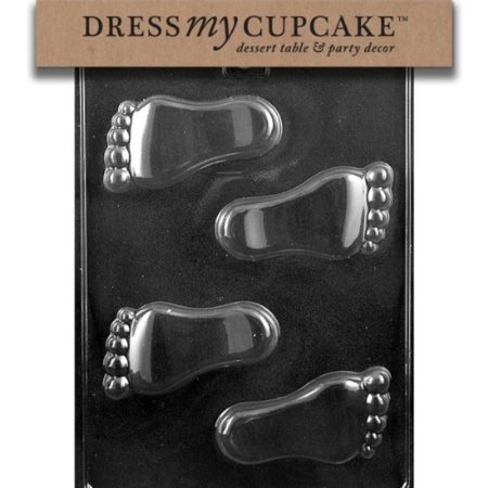 Dress My Cupcake Chocolate Candy Mold, Baby Feet, Baby