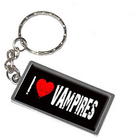 I Love Heart Vampires Keychain Key Chain Ring