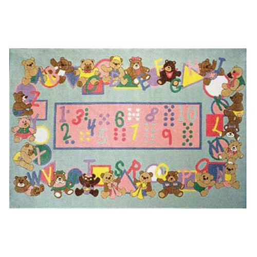 L.A. Rugs Teddies & Letters Kids Area Rug
