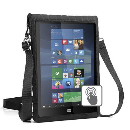 Tele Fits Usa Switch - USA GEAR 12 Inch Tablet Case Cover Holder with Capacitive Screen Use & Shoulder Carry Strap - Sleeve Fits Samsung Galaxy TabPro S 12