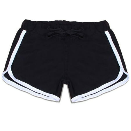 JEFFENLY Women Running Shorts Workout Yoga Short Pants Athletic Jogger Booty Shorts Elastic Waist with Drawstring](Teen Booty Shorts)