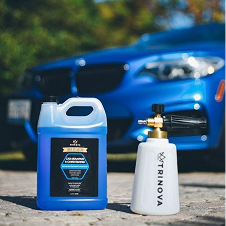 TriNova Foam Cannon and Gallon Car Wash Soap Bundle 2pk - Snow Foam Lance Thrower - Best for detailing trucks or SUVs
