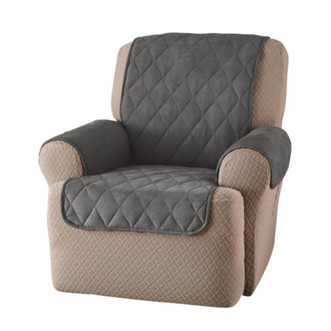 Innovative Textile Solutions SDRECLWID Suede Recliner Or Wing Chair Protector - Gray
