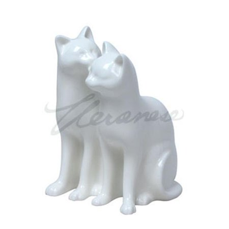 Unicorn Studios WP00046AA Sitting Cats One Sniffs the Other, White - image 1 of 1