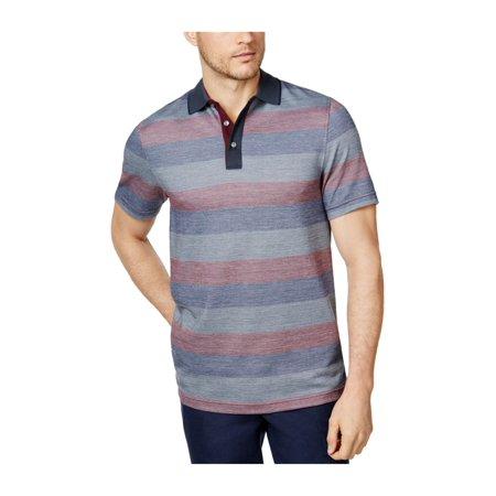 - Tasso Elba Mens Striped Rugby Polo Shirt
