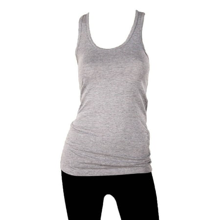 Sofra Women's 100% Cotton Racerback Tank Top