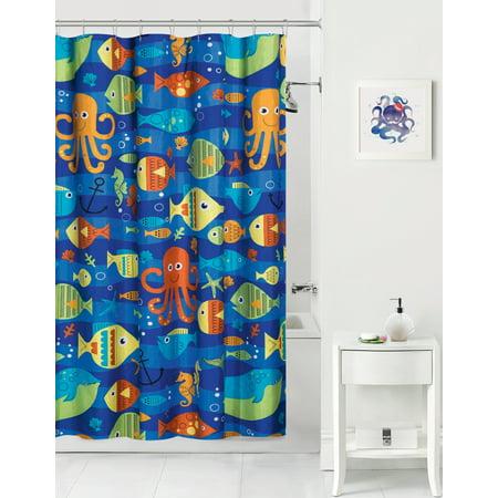 Mainstay Kids Sealife Coordinating Fabric Shower Curtain