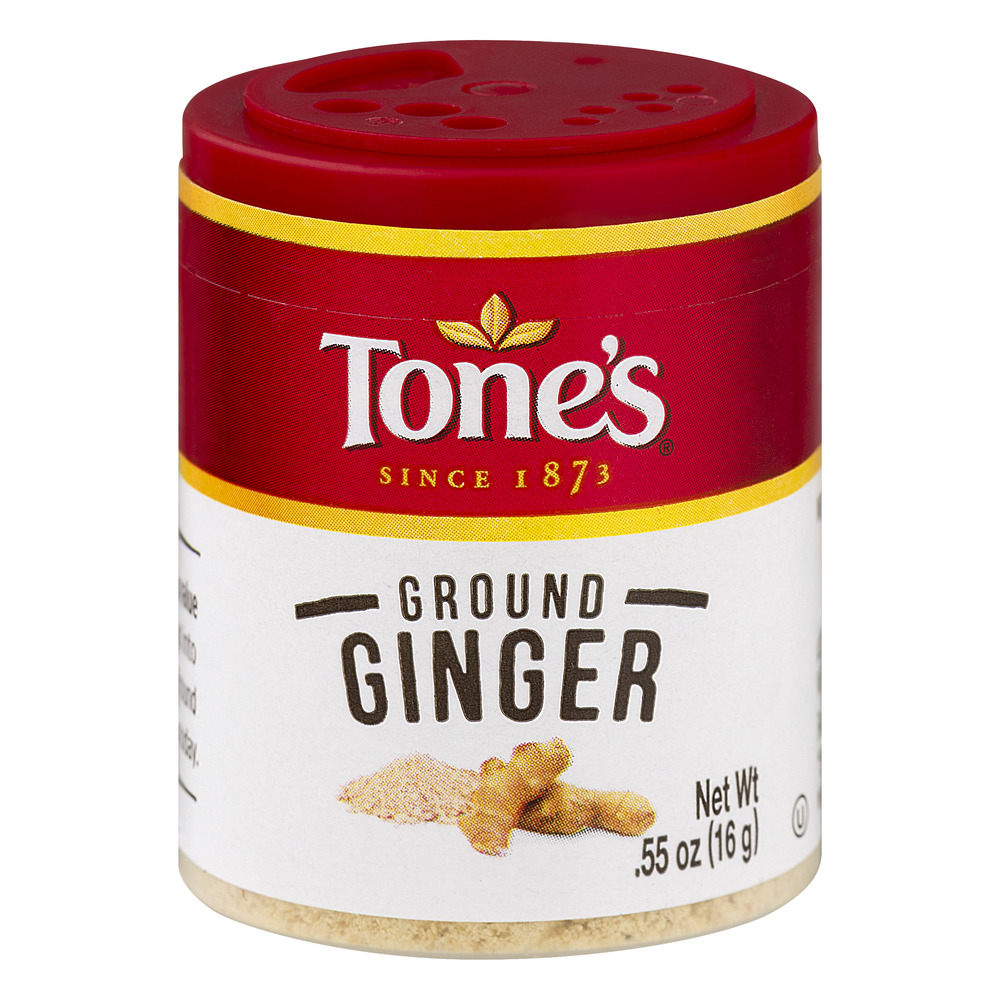 (4 Pack) Tone's Ground Ginger, 0.55 oz