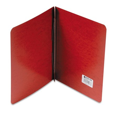ACCO PRESSTEX Report Cover, Side Bound, 3 Inch Capacity, 11 x 8.5 Inches, Red (A7025078A), Leather embossed, coated cover stock By ACCO Brands
