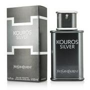 Yves Saint Laurent Kouros Silver, Cologne for Men, 1.6 Oz