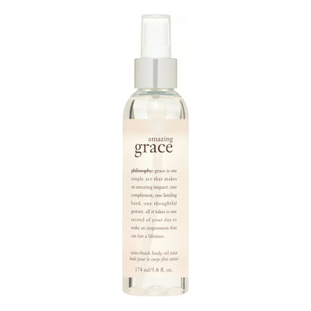 Fl Oz Body Oil - Philosophy Amazing Grace Satin-Finish Body Oil Mist, 5.8 Fl Oz