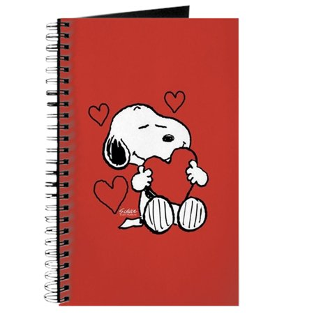 CafePress - Peanuts: Snoopy Heart - Spiral Bound Journal Notebook, Personal Diary Lined (Unlined Spiral Bound Journal)
