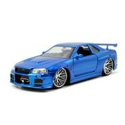Jada Toys 1:24 Fast & Furious '02 Nissan Skyline GT-R R34 Play Vehicle