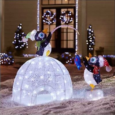 Home Accents Holiday Christmas 48-inch Igloo with Fishing Penguin ...