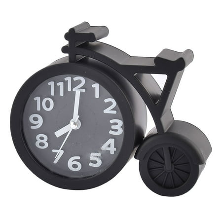 Household Office Desktop Plastic Bike Shaped Battery Powered Alarm Clock Black - image 3 of 3