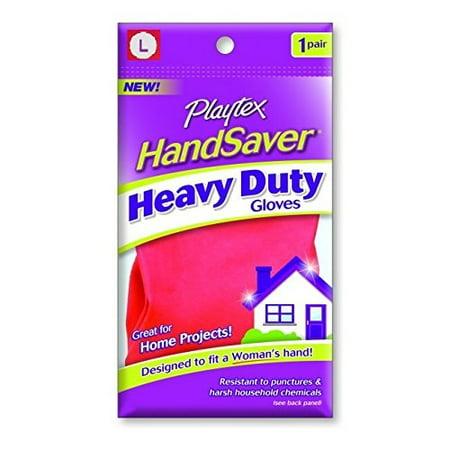 Playtex HandSaver Gloves, Heavy Duty Gloves, Large (1 Pack) + Schick Slim Twin ST for Sensitive (Best Rubber Gloves For Sensitive Skin)