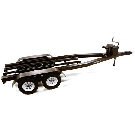 Integy RC Toy Model Hop-ups C27640BLACK Machined Alloy Dual Axle Boat Trailer Kit for 1/10 Scale RC 670x190x160mm