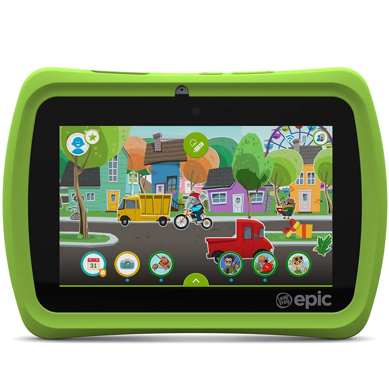 """LeapFrog 31576 Epic 7"""" 16GB Android Kids Tablet Green by LeapFrog"""