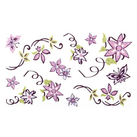 Women Flower Butterfly Pattern Body Art Removable Sticker Temporary Tattoo Sheet - Flower Pattern Removable Strap