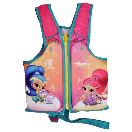 Shimmer & Shine Girls Pink Swim Vest