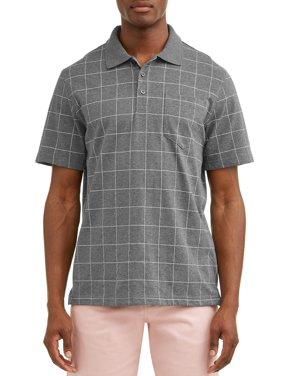 George Men's Pattern Jersey Polo Shirt