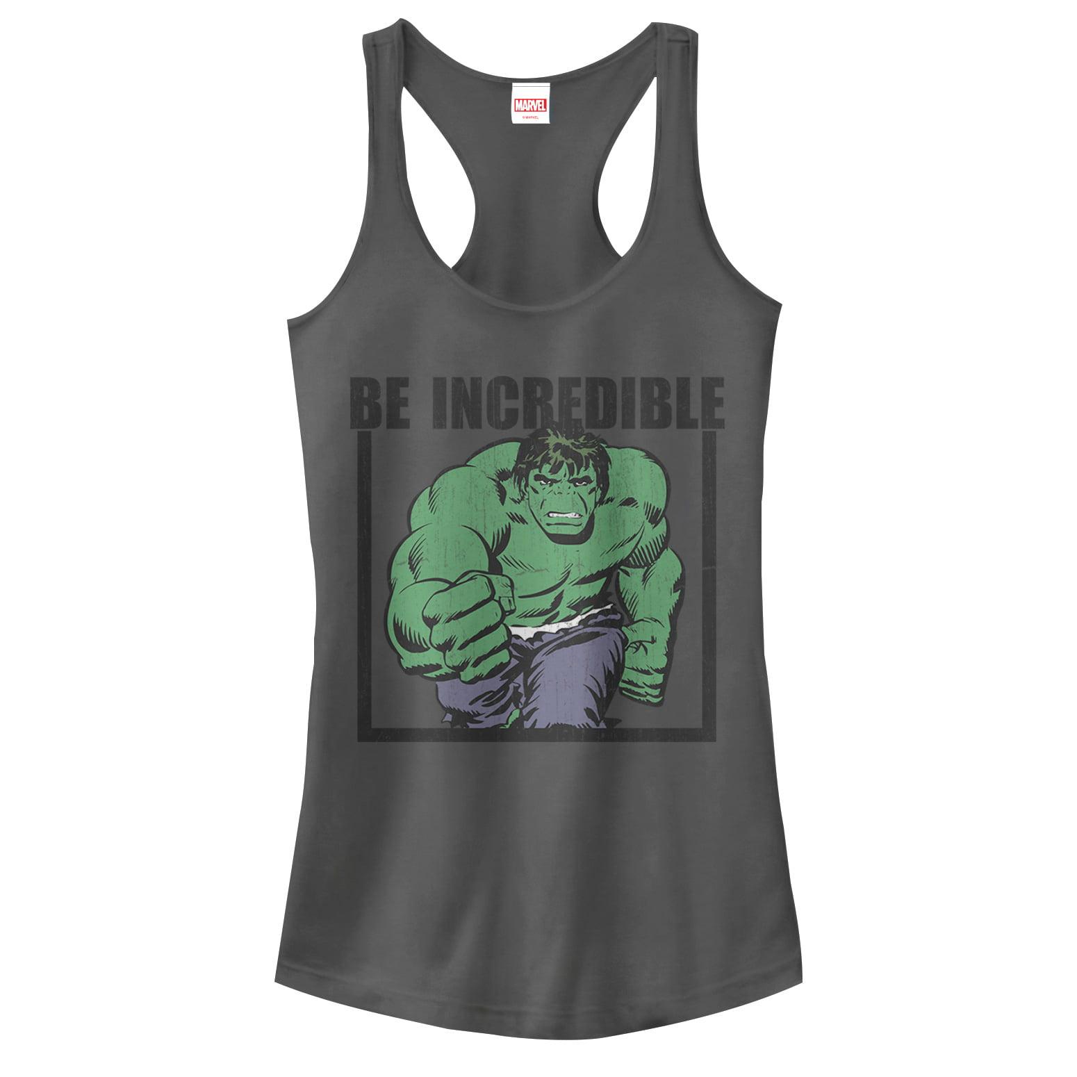 Marvel Juniors' Hulk Be Incredible Racerback Tank Top