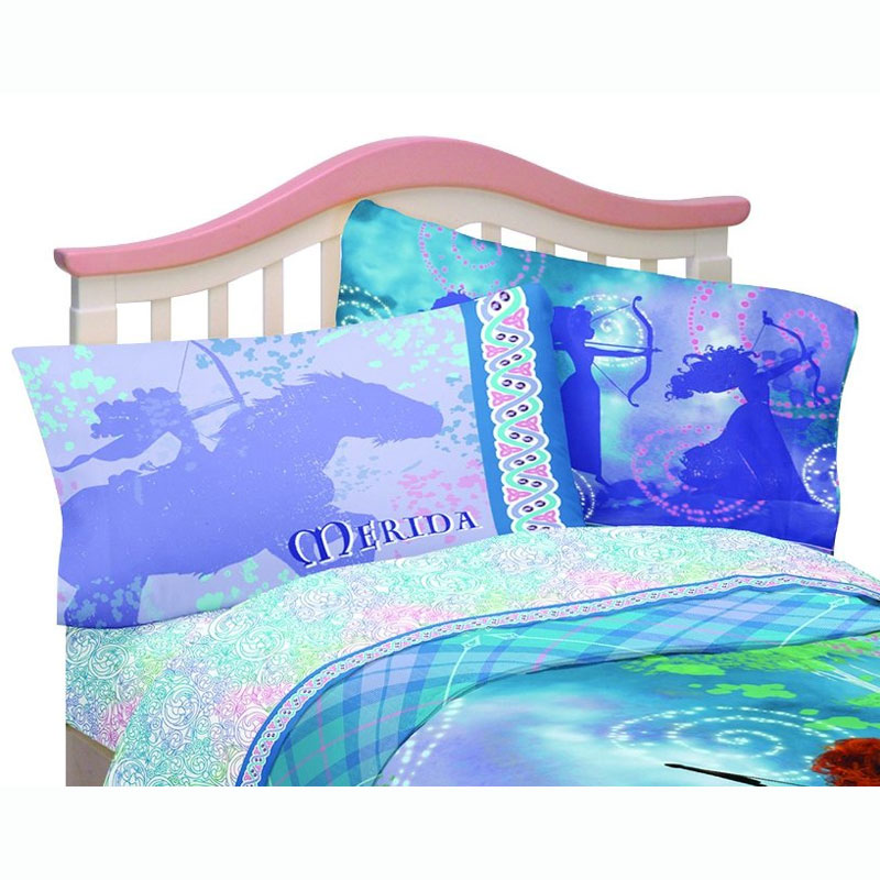 3pc Disney Brave Twin Bed Sheet Set Merida's Forest Bedding