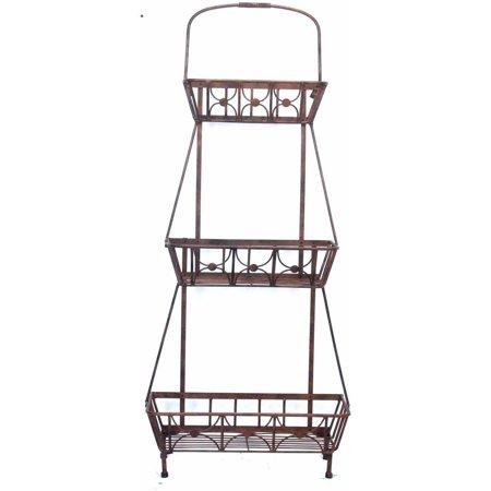 Deer Park Steel 3 Basket Floor Planter Walmart Com