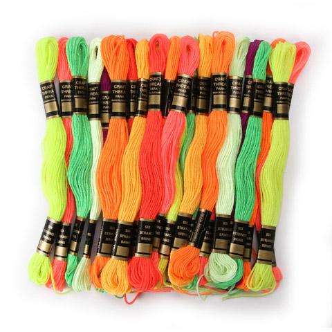 Floss Neon Clrs 24Pk