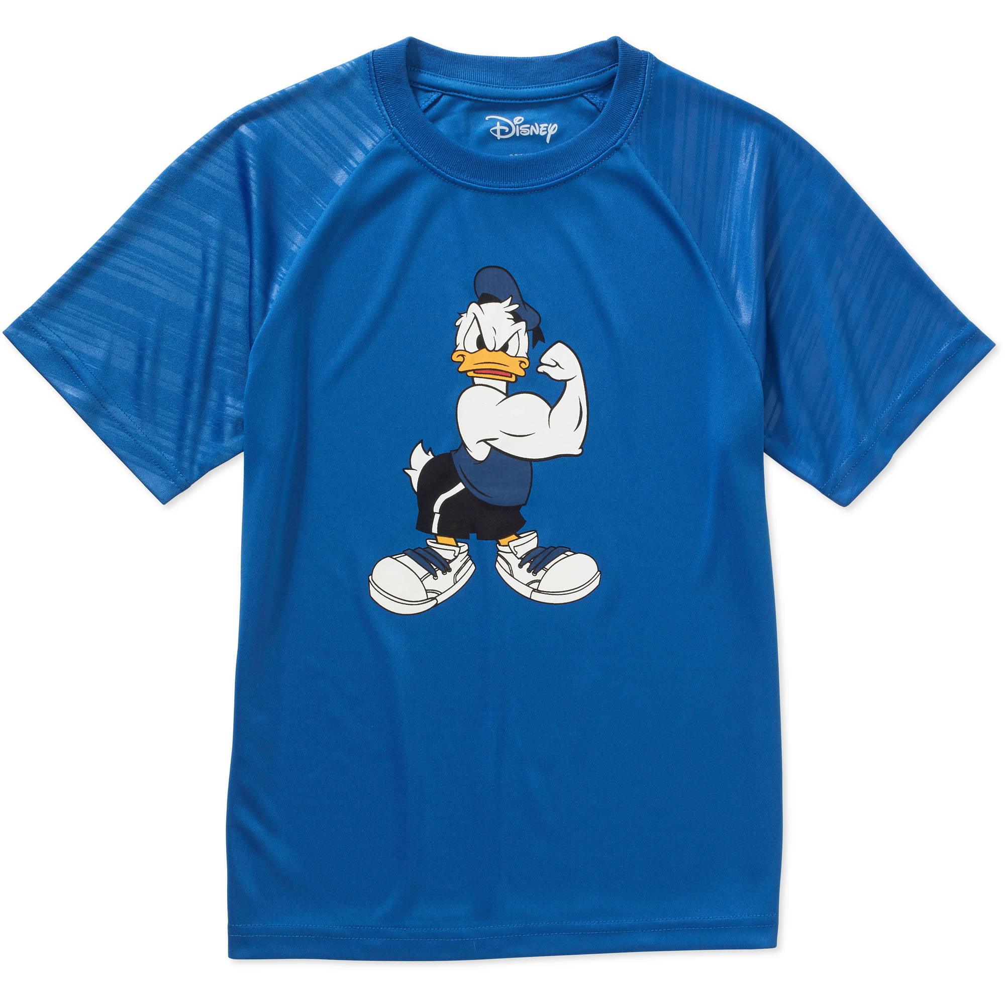 Disney Buffed Quacker Boys Poly Embossed Graphic Tee