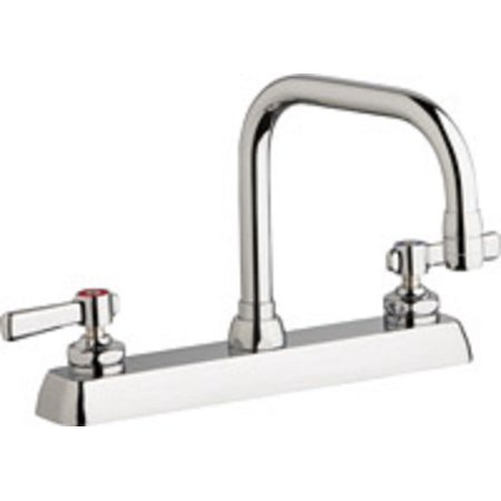 Chicago Faucet 527-205807AB Kitchen Sink Faucet Chrome Plate 1.5 GPM