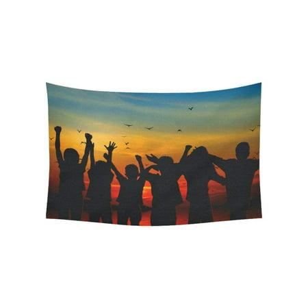 CADecor Wall Hanging Best Friends Silhouette Wall Tapestry Dorm Art 40x60