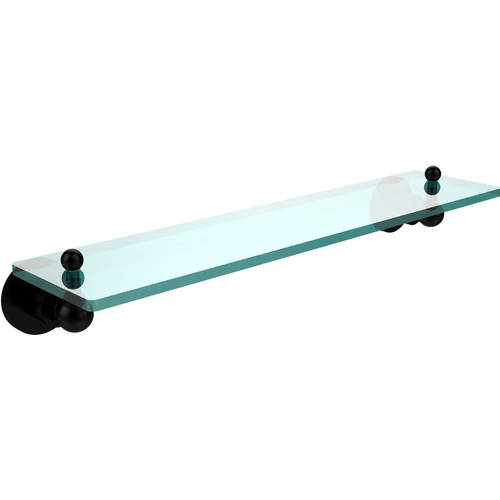 "Astor Place 22"" Glass Vanity Shelf with Beveled Edges (Build to Order)"