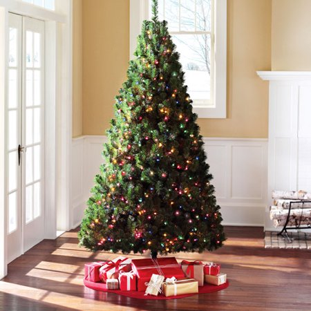 Holiday Time 7' Pre-Lit Douglas Fir Artificial Christmas Tree ...