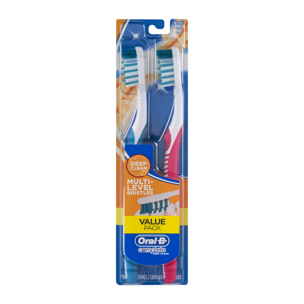 Oral-B Complete Deep Clean Toothbrushes Medium - 2 CT