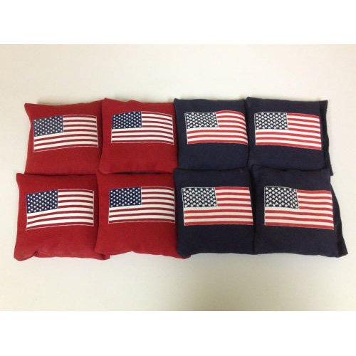 US Flag Cornhole Bags - Set of 8