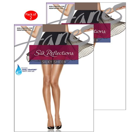 aa42eadba410c Hanes - Hanes Silk Reflections Reinforced Toe Pantyhose, Color: Town Taupe,  Size: EF --- PACK OF 2 (Women's Hosiery & Tights - Original Company  Packing) ...
