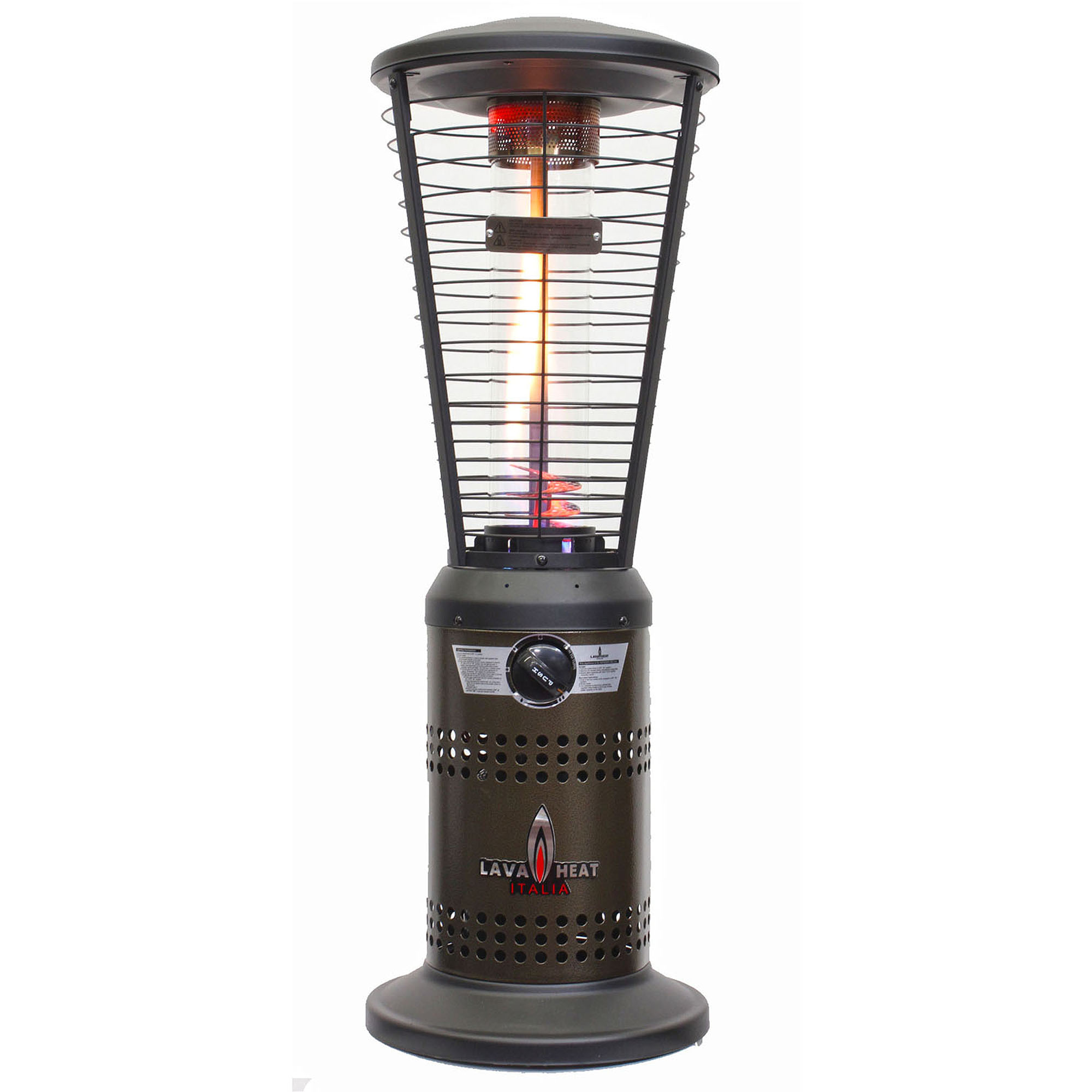 lava heat italia mini ember tabletop liquid propane patio heater heritage bronze finish walmartcom