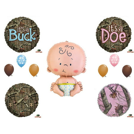MOSSY OAK GENDER REVEAL CAMO BABY DOE BUCK Balloons Decoration Supplies  Shower - Gender Neutral Baby Shower Decorations